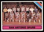1975 Topps #327   San Antonio Spurs Front Thumbnail