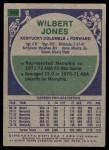 1975 Topps #289  Wilbert Jones  Back Thumbnail