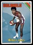 1975 Topps #289  Wilbert Jones  Front Thumbnail