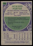 1975 Topps #138  Howard Porter  Back Thumbnail