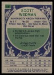1975 Topps #89  Scott Wedman  Back Thumbnail