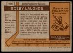 1973 Topps #189  Bobby Lalonde  Back Thumbnail