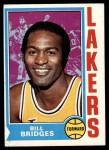 1974 Topps #13  Bill Bridges  Front Thumbnail
