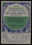 1975 Topps #251  John Williamson  Back Thumbnail