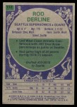 1975 Topps #112  Rod Derline  Back Thumbnail