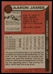 1979 Topps #111  Aaron James  Back Thumbnail