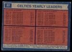 1974 Topps #82  Dave Cowens / John Havlicek / Jo Jo White  Back Thumbnail