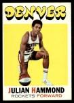 1971 Topps #174  Julian Hammond  Front Thumbnail