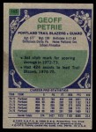 1975 Topps #165  Geoff Petrie  Back Thumbnail