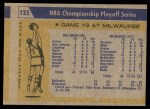 1971 Topps #135   NBA Playoffs Game #3 Back Thumbnail