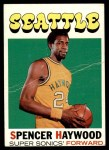 1971 Topps #20  Spencer Haywood   Front Thumbnail