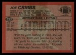 1983 Topps #223  Joe Cribbs  Back Thumbnail