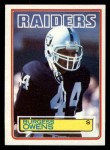 1983 Topps #306  Burgess Owens  Front Thumbnail