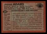 1983 Topps #325  Julius Adams  Back Thumbnail