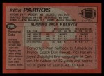 1983 Topps #266  Rick Parros  Back Thumbnail
