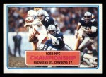 1983 Topps #10   NFC Championship Front Thumbnail