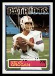 1983 Topps #329  Steve Grogan  Front Thumbnail