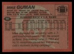1983 Topps #91  Mike Guman  Back Thumbnail