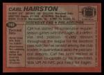 1983 Topps #140  Carl Hairston  Back Thumbnail