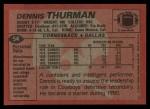 1983 Topps #54  Dennis Thurman  Back Thumbnail