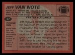 1983 Topps #27  Jeff Van Note  Back Thumbnail