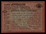 1983 Topps #376  Gary Johnson  Back Thumbnail