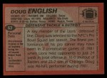 1983 Topps #63  Doug English  Back Thumbnail