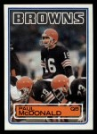 1983 Topps #253  Paul McDonald  Front Thumbnail