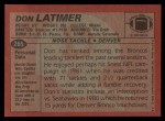 1983 Topps #265  Don Latimer  Back Thumbnail