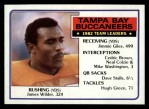 1983 Topps #174   Buccaneers Leaders Front Thumbnail
