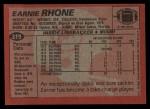 1983 Topps #319  Earnie Rhone  Back Thumbnail