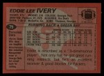 1983 Topps #79  Eddie Lee Ivery  Back Thumbnail