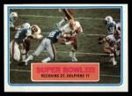 1983 Topps #12   Super Bowl XVII Front Thumbnail