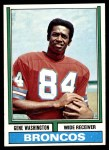 1974 Topps #63 ONE Gene Washington   Front Thumbnail