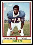 1974 Topps #27  Donnie Green  Front Thumbnail