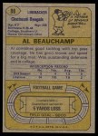 1974 Topps #88  Al Beauchamp  Back Thumbnail
