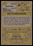 1974 Topps #111 ONE Ed Flanagan  Back Thumbnail