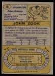 1974 Topps #29  John Zook  Back Thumbnail