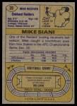 1974 Topps #39 ONE Mike Siani  Back Thumbnail