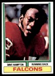 1974 Topps #55  Dave Hampton  Front Thumbnail