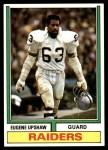 1974 Topps #65 ONE Gene Upshaw  Front Thumbnail