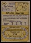 1974 Topps #68  Ralph Baker  Back Thumbnail