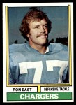 1974 Topps #72  Ron East  Front Thumbnail