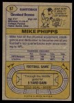 1974 Topps #87 ONE Mike Phipps  Back Thumbnail