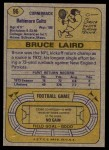 1974 Topps #96  Bruce Laird  Back Thumbnail