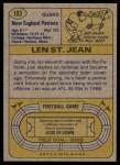 1974 Topps #103 ONE Len St. Jean  Back Thumbnail