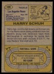 1974 Topps #109 ONE Harry Schuh  Back Thumbnail