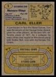 1974 Topps #5  Carl Eller  Back Thumbnail