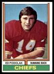 1974 Topps #7 ONE Ed Podolak  Front Thumbnail