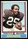 1974 Topps #11 ONE Frank Pitts  Front Thumbnail